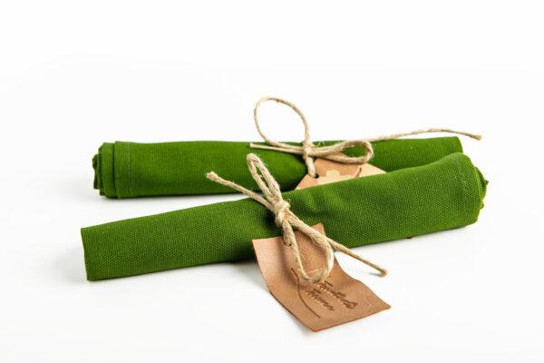 Tovagliolo in cotone, Verde militare